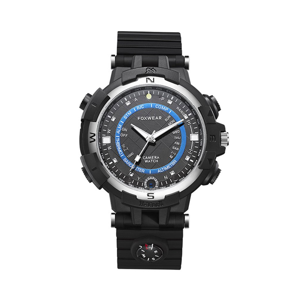 FOX8 16/32GB Capacity Daily Waterproof WiFi Camera Smart Watch With Compass, Support Remote Control / Voice-Record