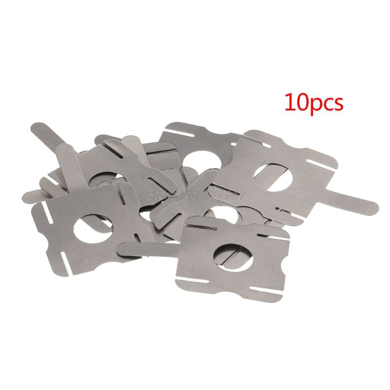 10PCS 18650 Lithium Batteries Nickel Spot Welding U-shaped Piece Connector T6 Battery Nickel Plated Steel Sheet Dropship