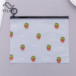 Image 5 - VOGVIGOกันน้ำPVCแคคตัสโปร่งใสกระเป๋าสตางค์กรณีแต่งหน้าStudy Officeเครื่องเขียนกระเป๋าBath Organizerกระเป๋า