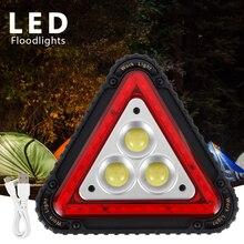 цена Portable Triangle Warning Light LED Multi-Function Flood Light Auto Repair Work Light Multi-Function Camping Light Searchlight онлайн в 2017 году