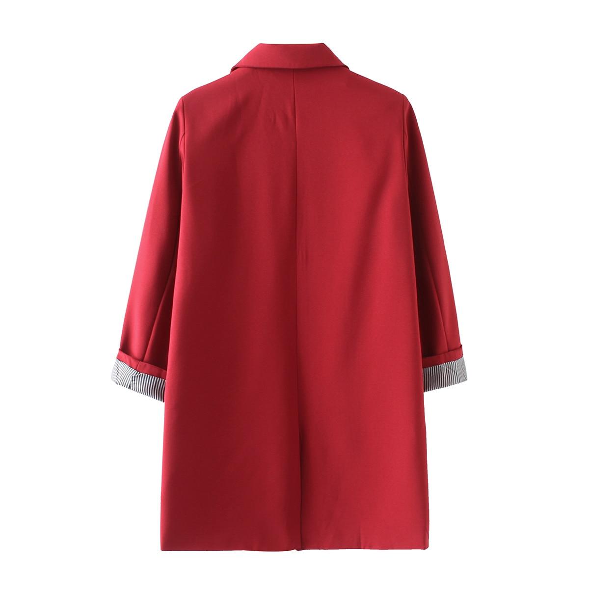 HStar autumn winter women full sleeves casual Blazer ladies plus size outwears single breasted long blazer jacket