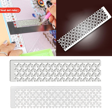 Diamond Painting Ruler Blank Grids Drawing Point Net Stainless Steel Embroidery Art 5D DIY Diamond Painting Full Partial Tool