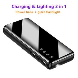 Image 3 - 10000 ポータブルミニ電源銀行高速充電ミラースクリーンデジタル表示 powerbank 懐中電灯照明スマートモービル電話