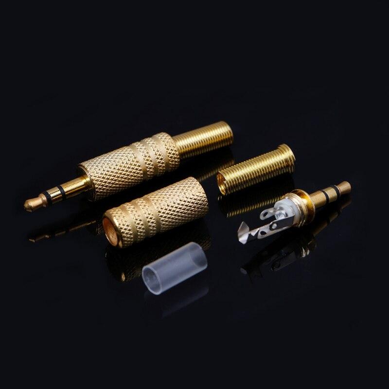 10 шт позолоченный штекер rca 35 мм аудиоразъем аудио разъем