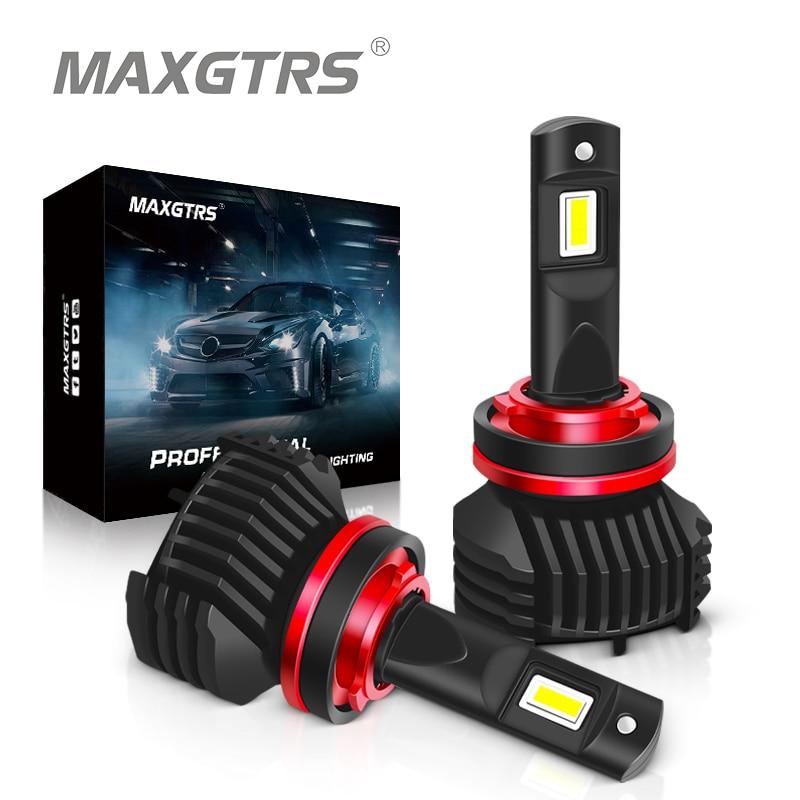 2x MAXGTRS Car Headlight H7 H4 LED H8/H11 HB3/9005 HB4/9006 90W 13000lm Auto Bulb Headlamp 6000K Light Canbus No Error
