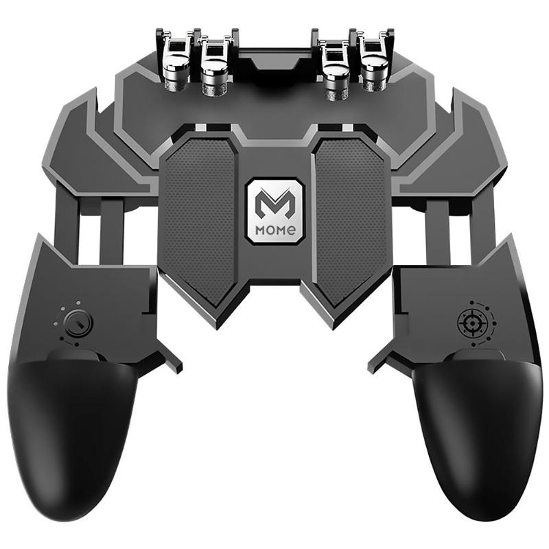 AK66 Six Fingers PUBG Mobile Gameing Controller Gamepad Joystick Fire Trigger Button Shooter Handle For IOS Android Mobile Phone