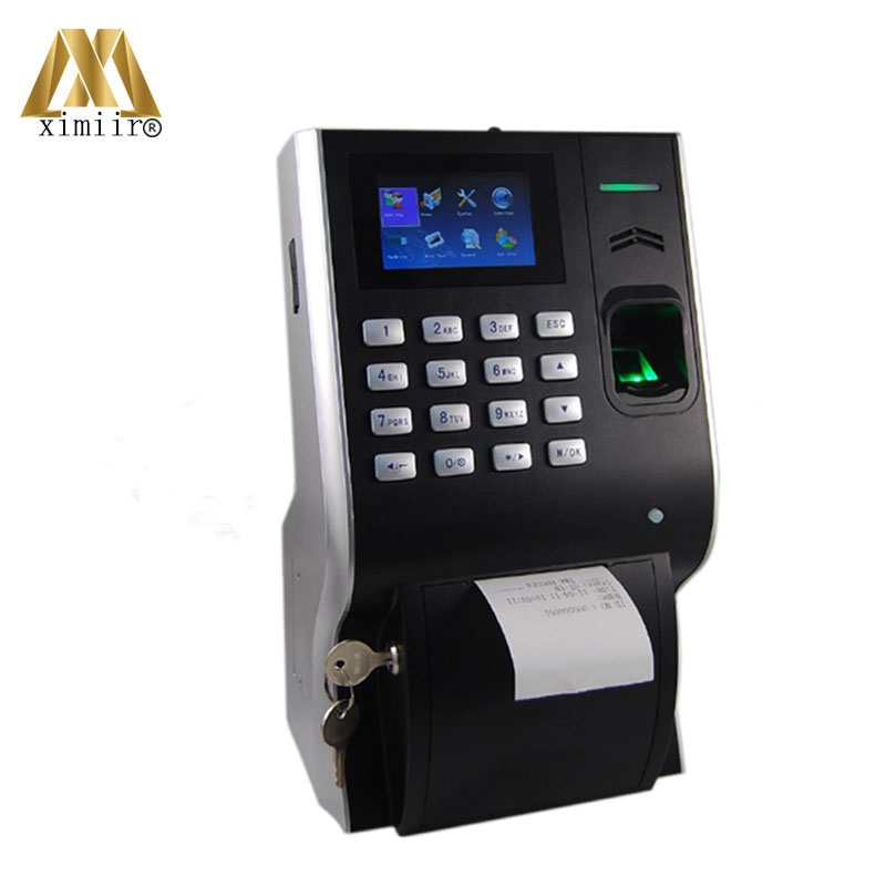 Linux System LP400 Fingerprint Time Attendance Optional Back Up Battery Thermal Printer Employtee Attendance System