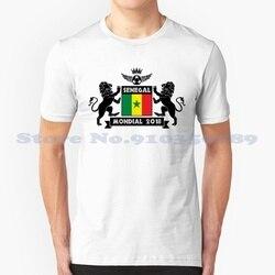Винтажная футболка с надписью «Les Lions Du Сенегал»