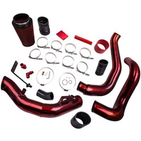 Red Turbo Intercooler Pipe & Cold Air Intake Kit for Ford F250 F350 F450 F550 2003 2007