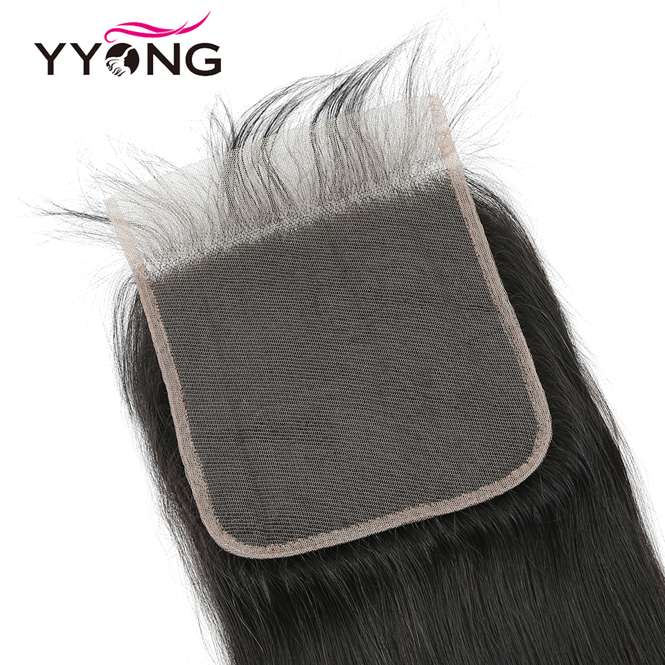YYong Straight Hair Bundles With 6x6 Lace Closure     Bundles With Closure Hair  6