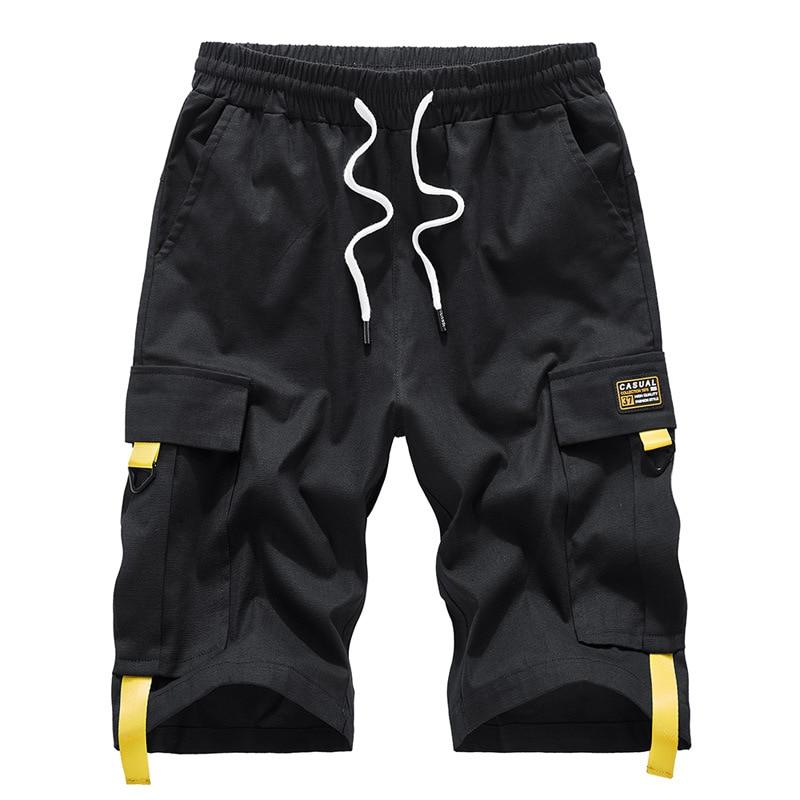 Shorts Large Size 2020 Summer Streetwear Male Bermuda Cargo Side Pockets Plus Size 7XL 8XL 9XL Knee Length Men's Cotton Shorts