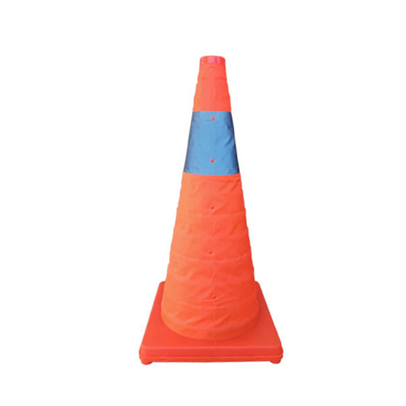 ABKT-Reflective Cone 60Cm Warning Reflective Cone Traffic Movement Retractable Collapsible Convenient Storage