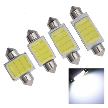 1X Festoon COB 31mm 36mm 39mm 42mm LED Bulb 12 Chips C5W DC12V White Color Car Dome Light Auto Interior Lamp 12v Car Accessories festoon 39mm 6w 420lm 6 cob led white light car auto reading lamp dome bulb 12v 2 pcs