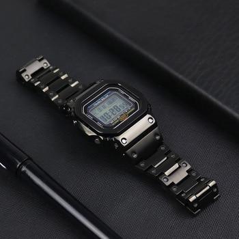 316L ремешок из нержавеющей стали и ободок для Casio G-shock DW5600 GW5600 DW5000/5035 корпус часов для Casio GW-M5610 ремешок для часов