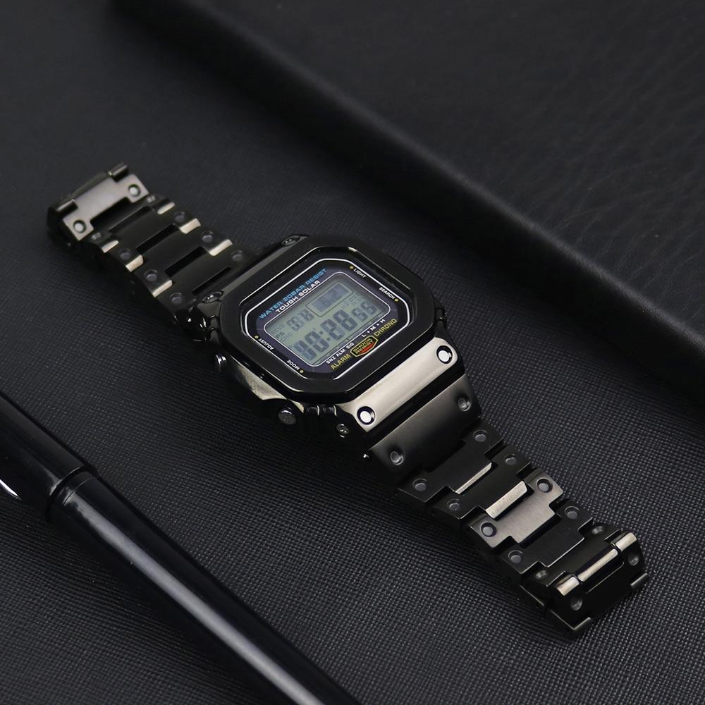 316L Stainless Steels Watch Strap For Casio G-shock DW-5600 GW-5600 DW5000/5035 Watch Case Bezel For Casio GW-M5610 Watch Band