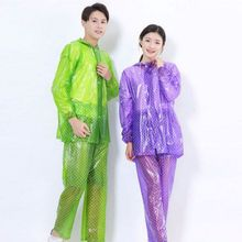 Pant Hoodie Coat Rainwear-Suit Rain Poncho Clear Transparent Adult Waterproof Women Camping