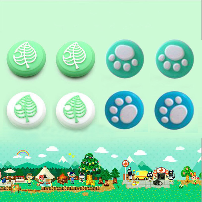 Animal Crossing Cat Paw Cute Pad Thumb Stick Grip Cap Joystick Cover For Nintend Switch Lite Joy-Con Controller Thumbstick Case