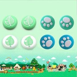 Animal Crossing łapa kota śliczny Pad uchwyt na kciuki czapka Joystick pokrywa dla przełącznik do nintendo Lite Joy Con kontroler Thumbstick Case w Części zamienne i akcesoria od Elektronika użytkowa na