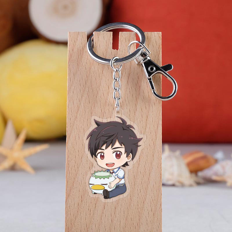 Anime SARAZANMAI Keychian Cartoon Figure Yasaka Kazuki Kuji Toi Jinai Enta Acrylic Pendent Keyring
