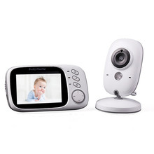 Smart VB603 Wireless Video Baby Monitor with 3.2Inches LCD 2 Way Audio Talk Night Vision Surveillance Security Camera Babycare(China)