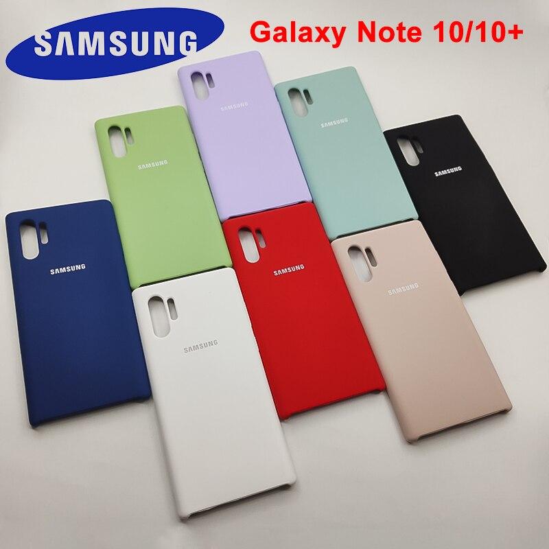 Funda Note 10 plus para Samsung Galaxy Note 10 + funda de silicona líquida protectora de tacto suave y sedoso para samsung Note10 plus +