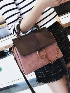 Fashion Handbag Chain-Shoulder-Bag Circle Tote-Bag Messenger-Bag Vintage High-Quality