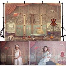 Фон для фотосъемки винтажный Королевский дворец Стиль фон занавеска