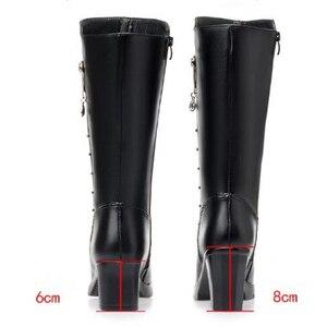 Image 4 - AIYUQIฤดูหนาวรองเท้าผู้หญิงรองเท้าหนังแท้รองเท้าหนังผู้หญิงรองเท้าผ้าขนสัตว์รองเท้าบู๊ตหิมะกันน้ำอุ่นหญิงHigh Boots