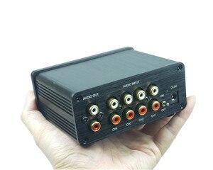 Image 4 - 4 (1) 1(4)OUT 4 WAY อินพุตเสียง RCA สายตัวเลือก Splitter Switcher สวิทช์ schalter แหล่งตัวเชื่อมต่อผู้จัดจำหน่ายกล่อง