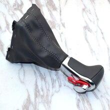 4GD713139 Chrome Gear Shift Knob Black Leather Gaiter Boot AT LHD Only For Audi A3 A4 B8 A5 A6 C6 Q5 Q7 2009 2010 2011 2012 2013 for audi a3 a6 s6 q7 2005 2012 gear shift knob gaitor boot cover leather leather gaiter boot black at lhd only