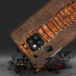 Image 4 - Funda de teléfono de lujo de cuero genuino para Huawei Mate 20 pro P40 Pro P30 Lite P20 Pro Y7 Y9 para Honor 20 Pro 10 Lite 8X 10i