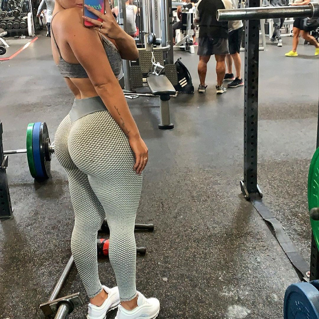 KIWI RATA High Waist Yoga Pants Scrunched Booty Leggings for Women Anti Cellulite Workout Running Butt Lift Tights 6