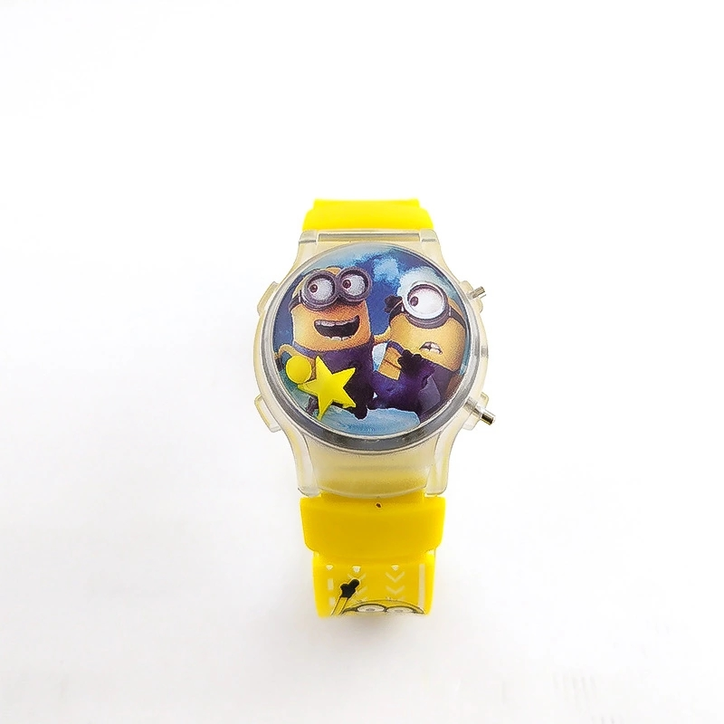 Cutesy Cartoon Minion God Stole A Baby's Electronic Watch With Silicone Electronic Wave