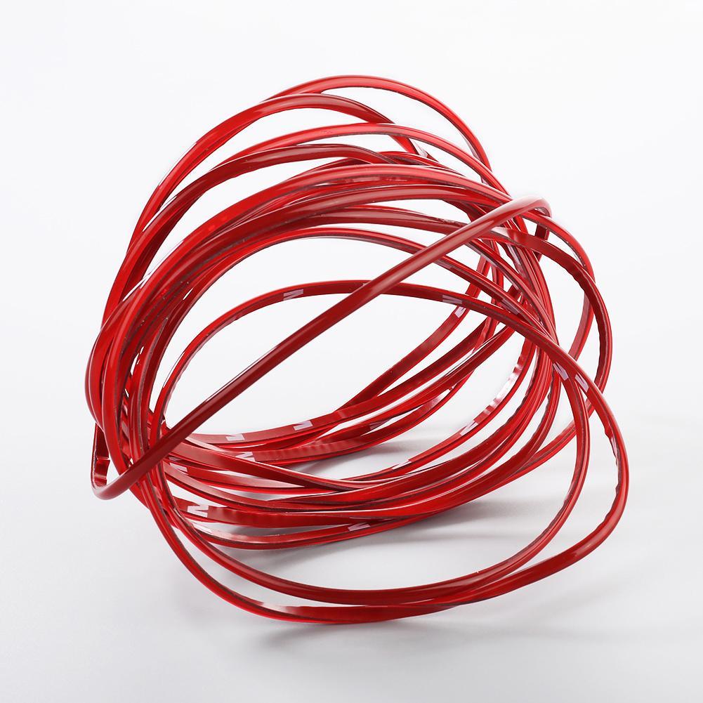 5M 4mm Red Trim For Auto Car Interior Exterior Moulding Strip Decorative Line