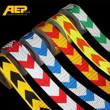 5cm * 3m Auto Sicherheit Mark Warnband Reflektierende Streifen Pfeil Gitter Aufkleber Für Fahrrad Auto Außen Dekoration zubehör