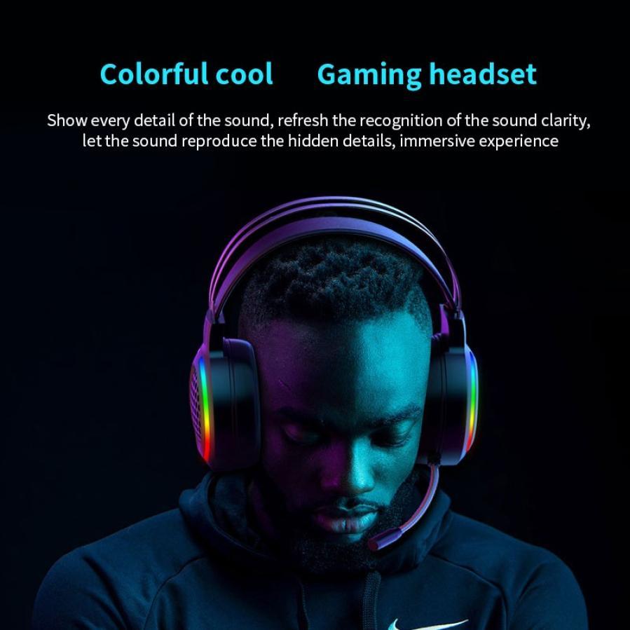 Novo gaming headset 7.1 surround som usb