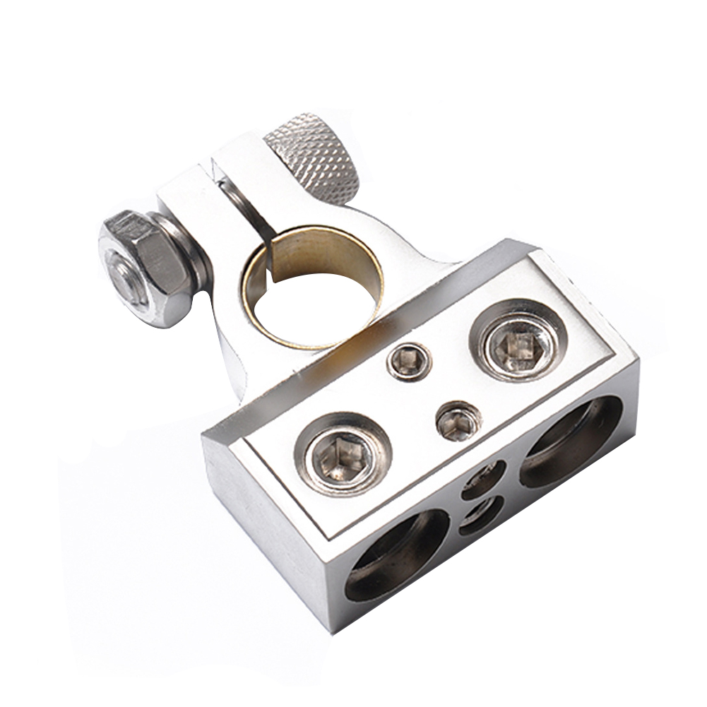 Battery Terminal Durable 1/0 8 Gauge Accessories Universal Zinc Alloy Clamps Screw Replacement Positive And Negative Car Use