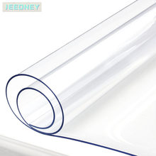 Soft Glass Flexible Tablecloth Liquid Film Oilcloth for Table Transparent Floor Mat Table Protector Cover Pvc Silicone Cloth