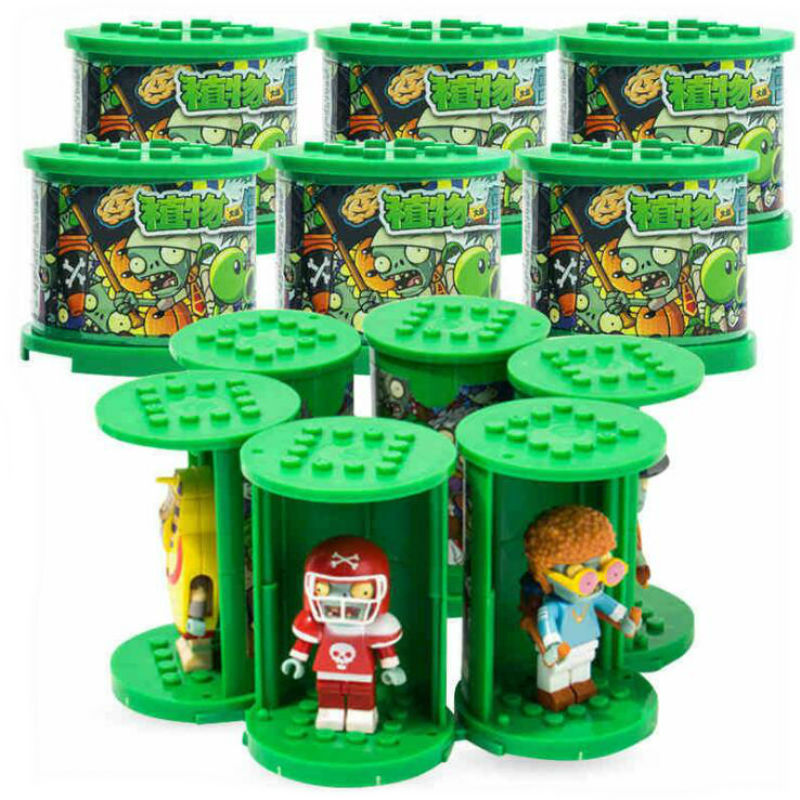 2020 Genuine Plants Vs Zombies Figures Building Blocks PVZ Action Figures LegoED Role Play Battles Learning Doll Children Toy