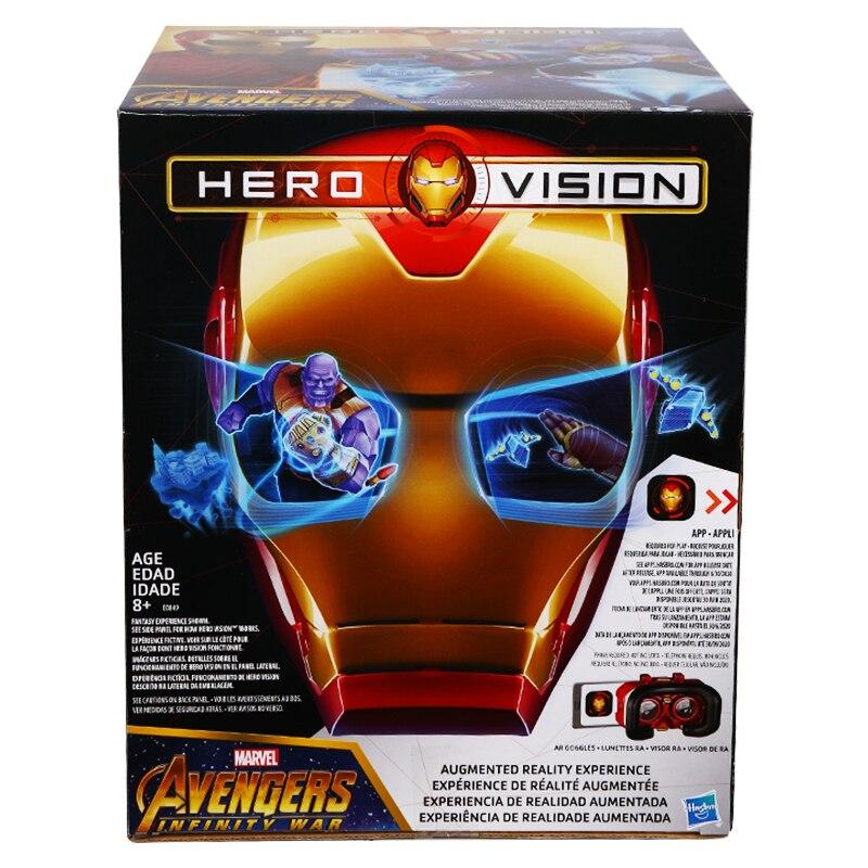 Hasbro Avengers Action Figure Iron Man AR Smart Mask Game Helmet Kids Toys Gifts