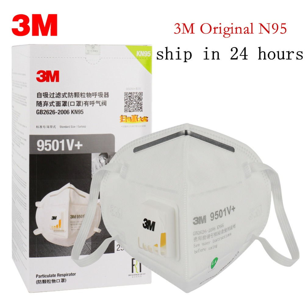 5PCS/10PCS/20PCS Original 3M 9501KN95 Dustproof Anti-fog And Breathable Face Masks PM2.5 9501 N95 Mask With Valve 95% Filtration