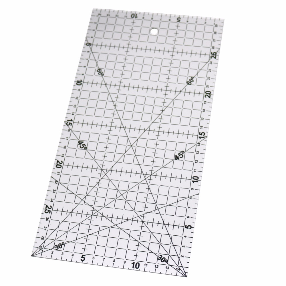 1 Pc 30x15cm Acrylic Patchwork Aligned Ruler Transparent Drawing Ruler Office & School
