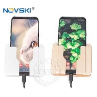 4 teile/los Wand Montieren Univeral Handy Lade Halter 2100mA USB Steckdose Ladegerät Adapter Stecker Outlet Paste Halter