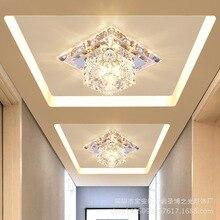 Современный минималистичный проходной свет светодиодный хрустальный коридор огни входные огни зал встроенный потолочный отверстие dong deng прожекторы