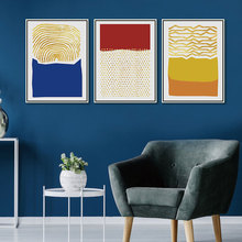 Drop Shipping Poster 3 Panel Canvas Art Print Abstract Geometry Warm Color Block Golden Dot and Line Painting Wall Picture Decor printed abstract graphics psychedelic nebula space painting canvas print decor print poster picture canvas free shipping ny 5746