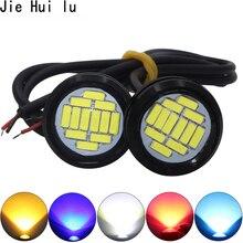 Branco dc 12v eagle eye led luz 4014 12smd 23mm daytime running drl luz de backup carro auto lâmpada 12 led