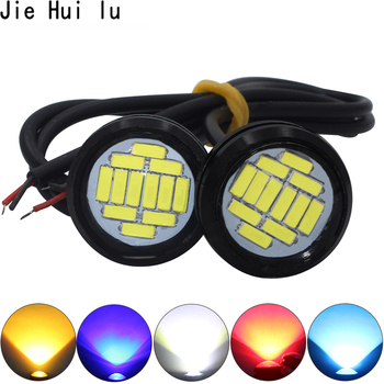 цена на White DC 12V Eagle Eye LED Light 4014 12SMD 23MM Daytime Running DRL Backup Light DRL Car Auto Lamp 12 LED