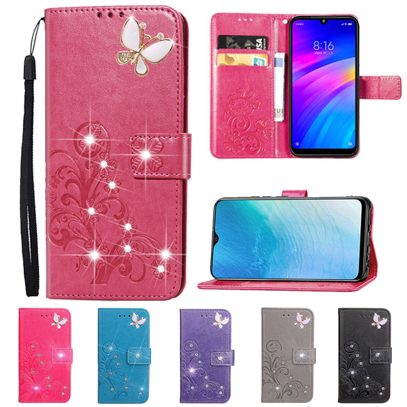 Flip Stand Leather Cover for <font><b>Samsung</b></font> Galaxy XCover 4S 4 3 Pro <font><b>S9</b></font> Plus S10 S11 Lite S10E S11E S20 Ultra Wallet <font><b>Case</b></font> <font><b>Diamond</b></font> Bags image
