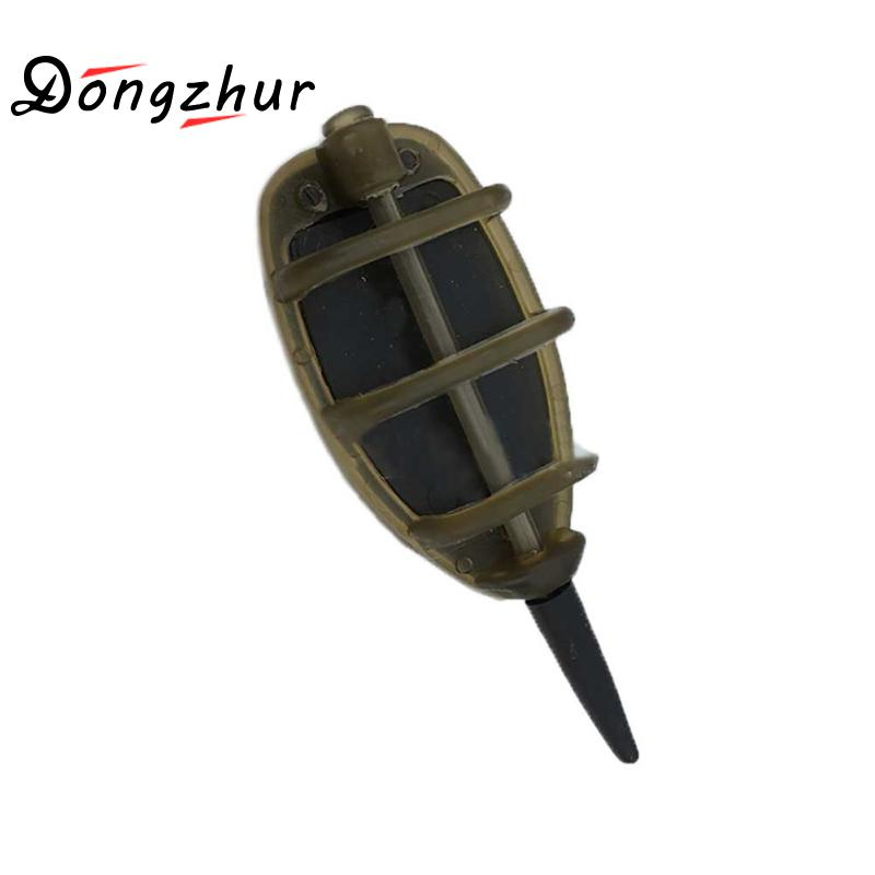 Dongzhur Method Feeder Carp Fishing Feeder Tool For Fishing Inline With Mould Carp Lead Sinker Free Lead Pesca Feeding Trough