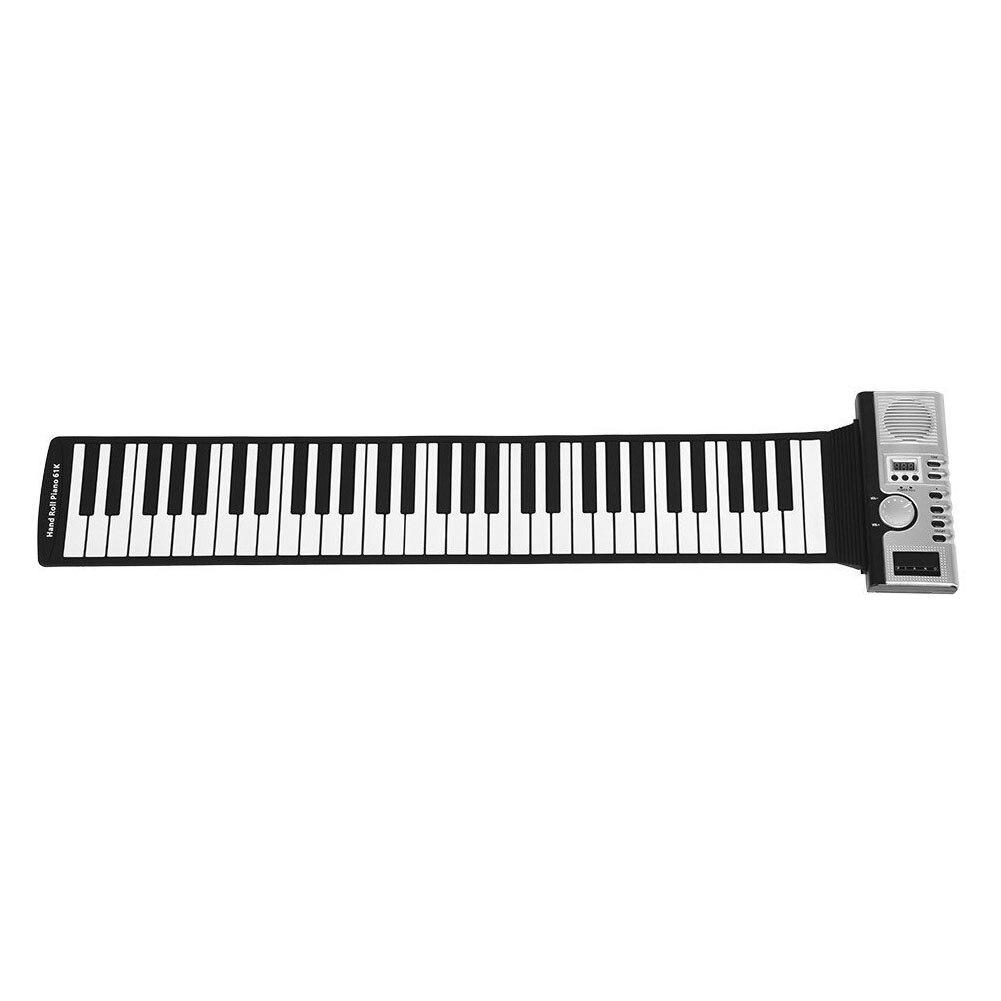 Clavier électronique retroussable Piano jouets cadeau musique 61 touches enfants enregistrement Instrument de musique USB MIDI